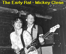 Mickey Clean at The Rat.  Early on the pipes were exposed.