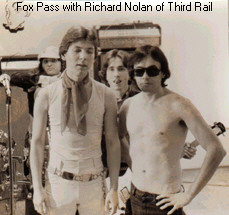 With Richard Nolan of Third Rail in 1977 Photo by Miss Lyn