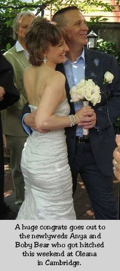 The happy newlyweds