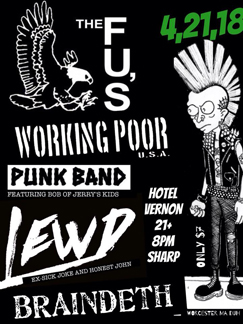 Punk show poster