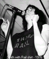 Patti Smith with Third Rail shirt